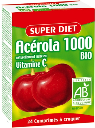 acerola 1000 super diet complement alimentaire bio