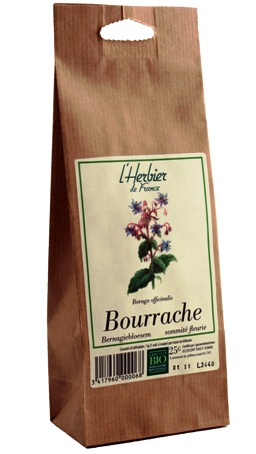 tisane bourrache sommites bio